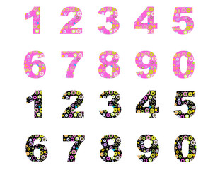numbers flowers