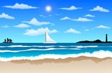 Ocean Waves On Beach poster