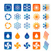Icons for air conditioning