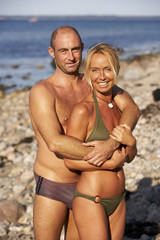 couple in love at the summer vacation