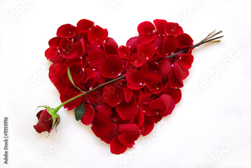 Red Valentine Heart Rose with arrow - 11150916
