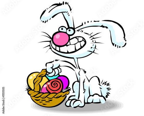 funny easter bunny cartoon pictures. Vector cartoon easter bunny 04