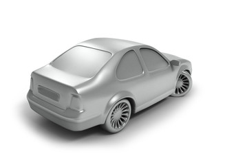 silver car back