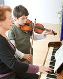 Fototapety violin lesson