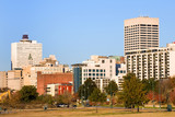 Downtown of Memphis, TN from Tom Lee park poster