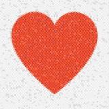 Heart Mosaic Hexagons poster