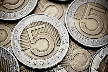 Polish coins texture