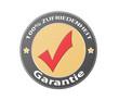 Garantie 100% Zufriedenheit fett