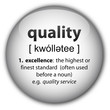 """quality"" button with definition"