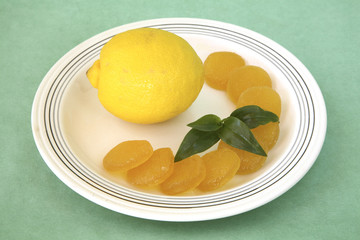 lemon with candies