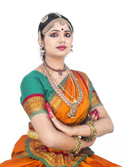 indian traditional female dancer
