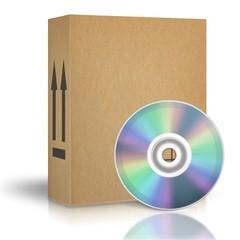 Caja de Carton para transporte de software
