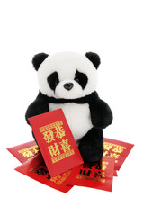 Soft Toy Panda with Lucky Money Envelopes