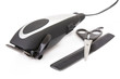 modern electric hair / beard trimmer with scissors and comb