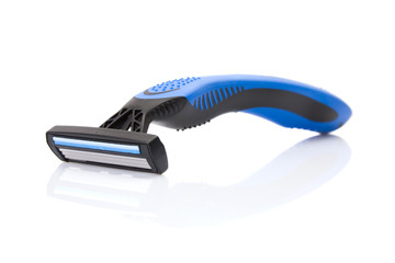 disposable shaving razor isolated on a white background