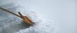 Leinwandbild Motiv Schnee räumen