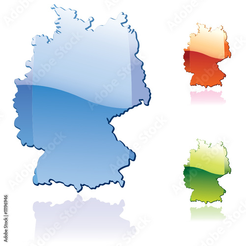 Germany..glossy map series