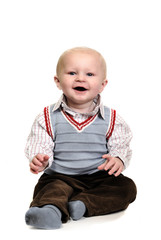 Happy 10 month old little boy.