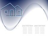 vector header for real estate company. No mesh used poster