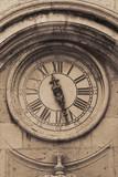 Street clock in croatian town Dubrovnik poster