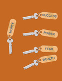 Vector Keys with Motivational / Conceptual Tags. poster