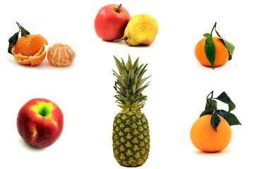 Collage di frutta