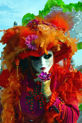 Venice carnival. Mask on the street