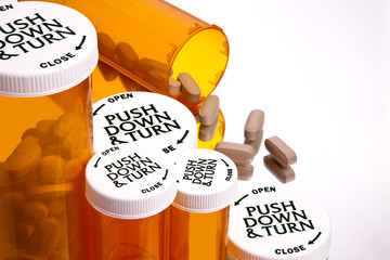 Pill Bottles with Pills