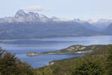 The Beagle Channel in Ushuaia, Argentina poster