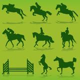 equestrian vector poster
