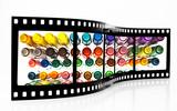Colored felt Pens Film Strip poster