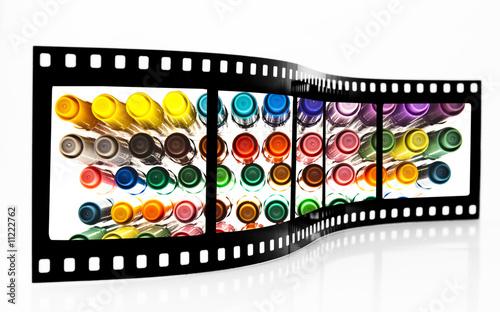 poster of Colored felt Pens Film Strip