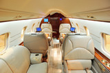 Fototapety Interior of luxurious private airplane