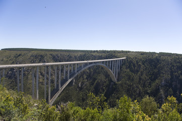 Bloukrans River bridge (216 m) highest bungee-jumping point in t