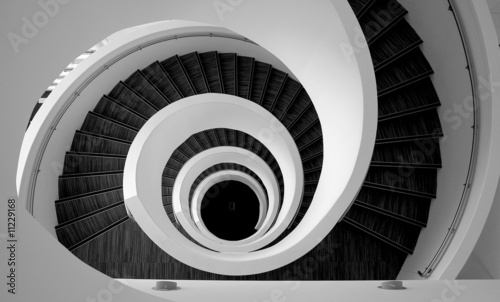 Zdjęcia na płótnie, fototapety na wymiar, obrazy na ścianę : Modern spiral stairs detail