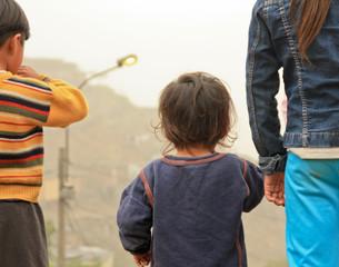 Kinder in den Slums von Lima,  Peru