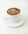 late coffee with chocolate