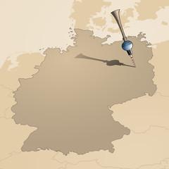 Berliner Fernsehturm als Dart-Pfeil 2