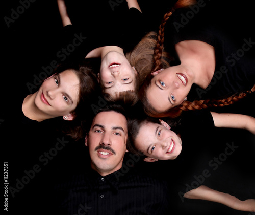 Portrait of Happy Family with 5 Members