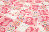 China yuan background poster