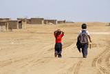 Fototapety Schulkinder in Wüstendorf, Peru