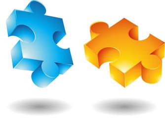 3d jigsaw pieces