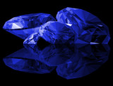 3d Sapphire Gems Isolated poster