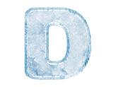 Fototapety Ice font. Letter D.Upper case