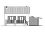 Technical drawing of a detached house poster