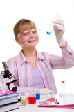 Student in laboratory poster