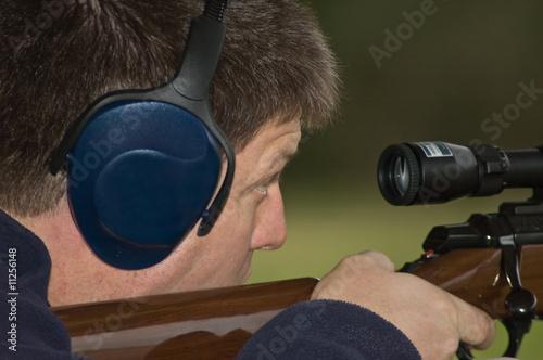 Fotobehang Jacht Target shooting