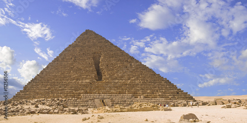 Panoramic of the Pyramid of Mencaure in Giza
