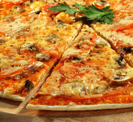 Piece of Mushroom Pizza