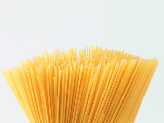 Close up picture of a bunch of spaghetti